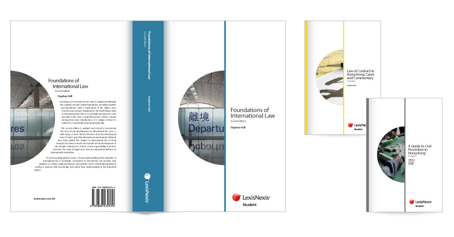 Designs for book covers for LexisNexis Hong Kong